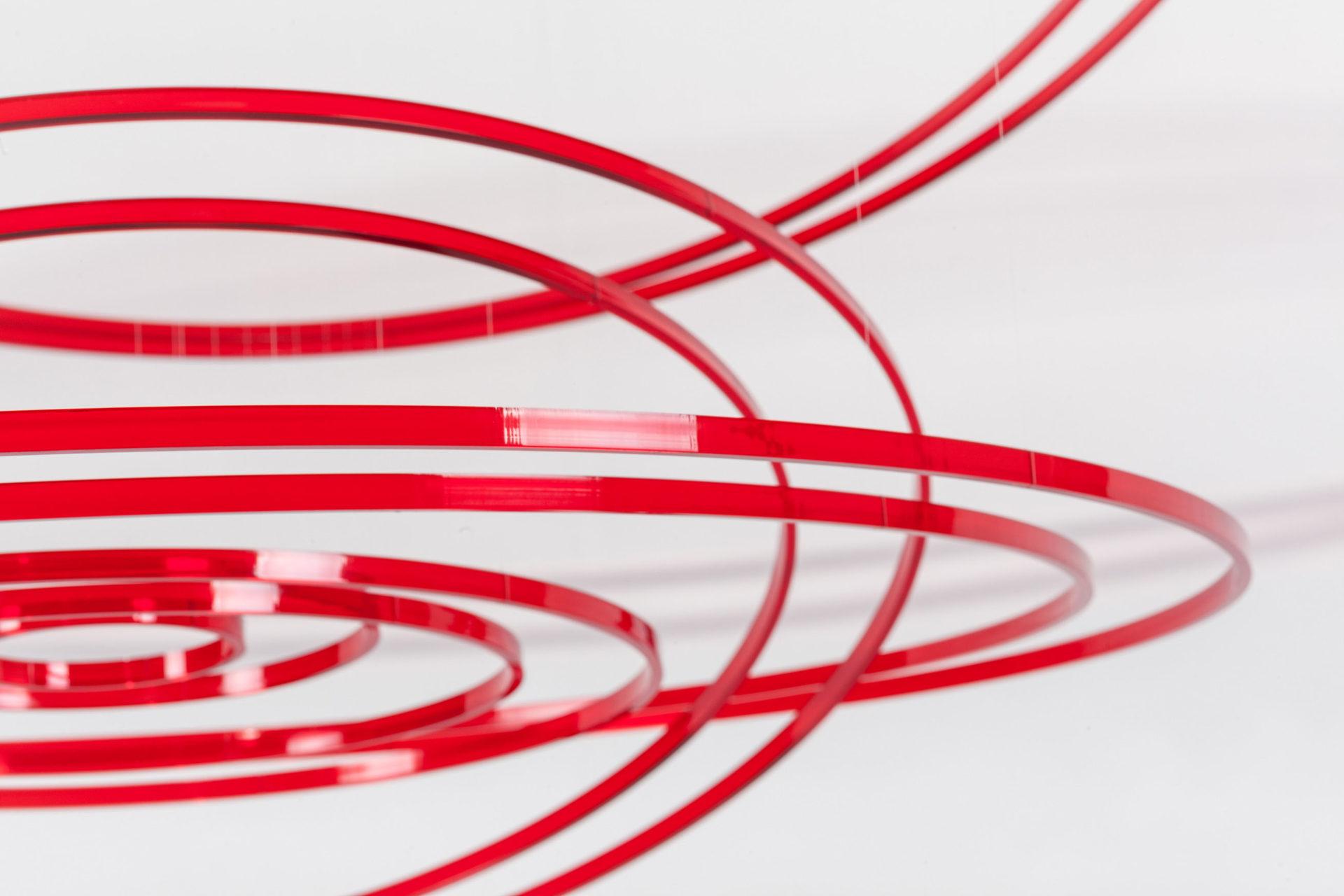 Elias Crespin Circuconcéntricos Rojo Transparente