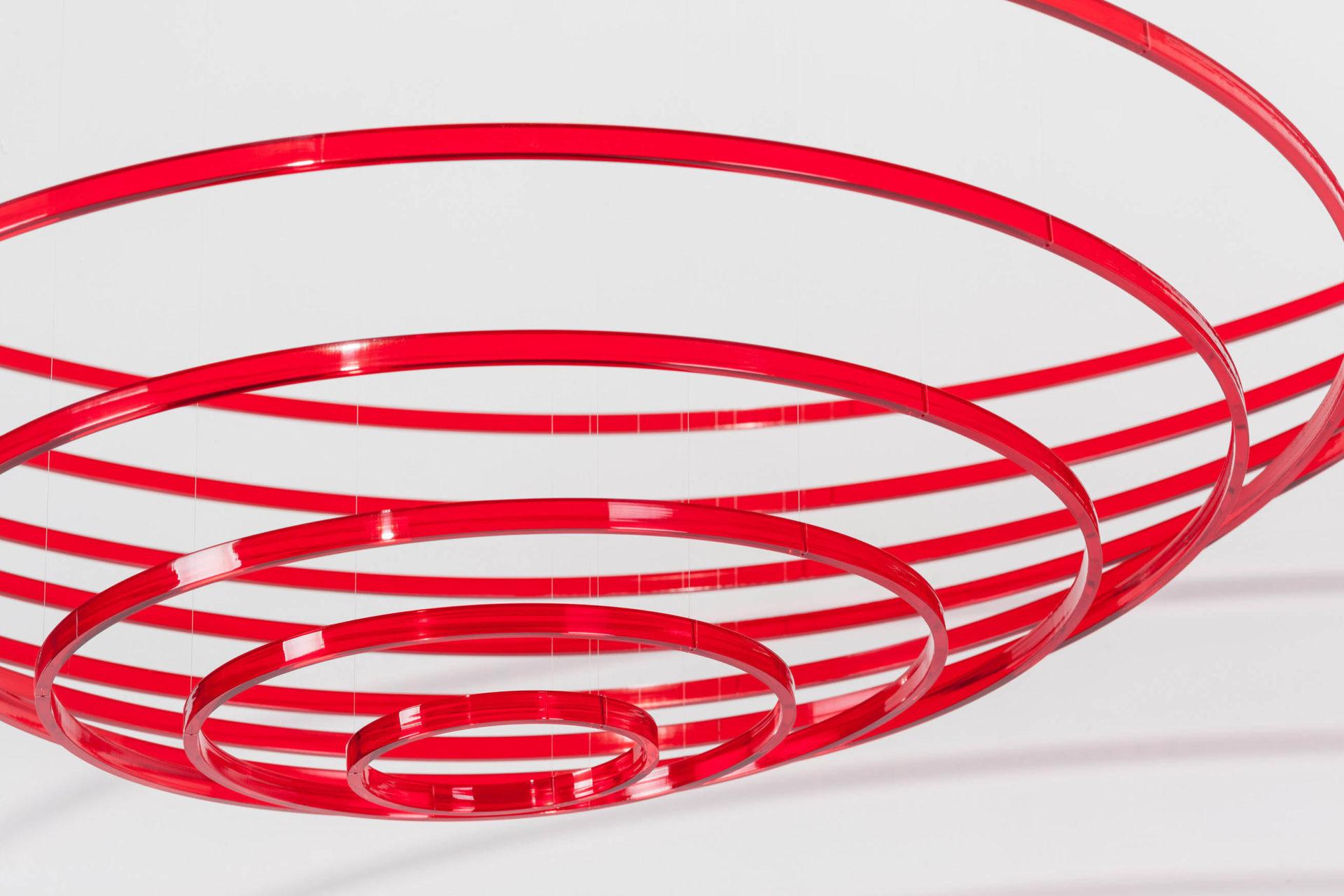 Elias Crespin Circuconcentricos Rojo Transparente